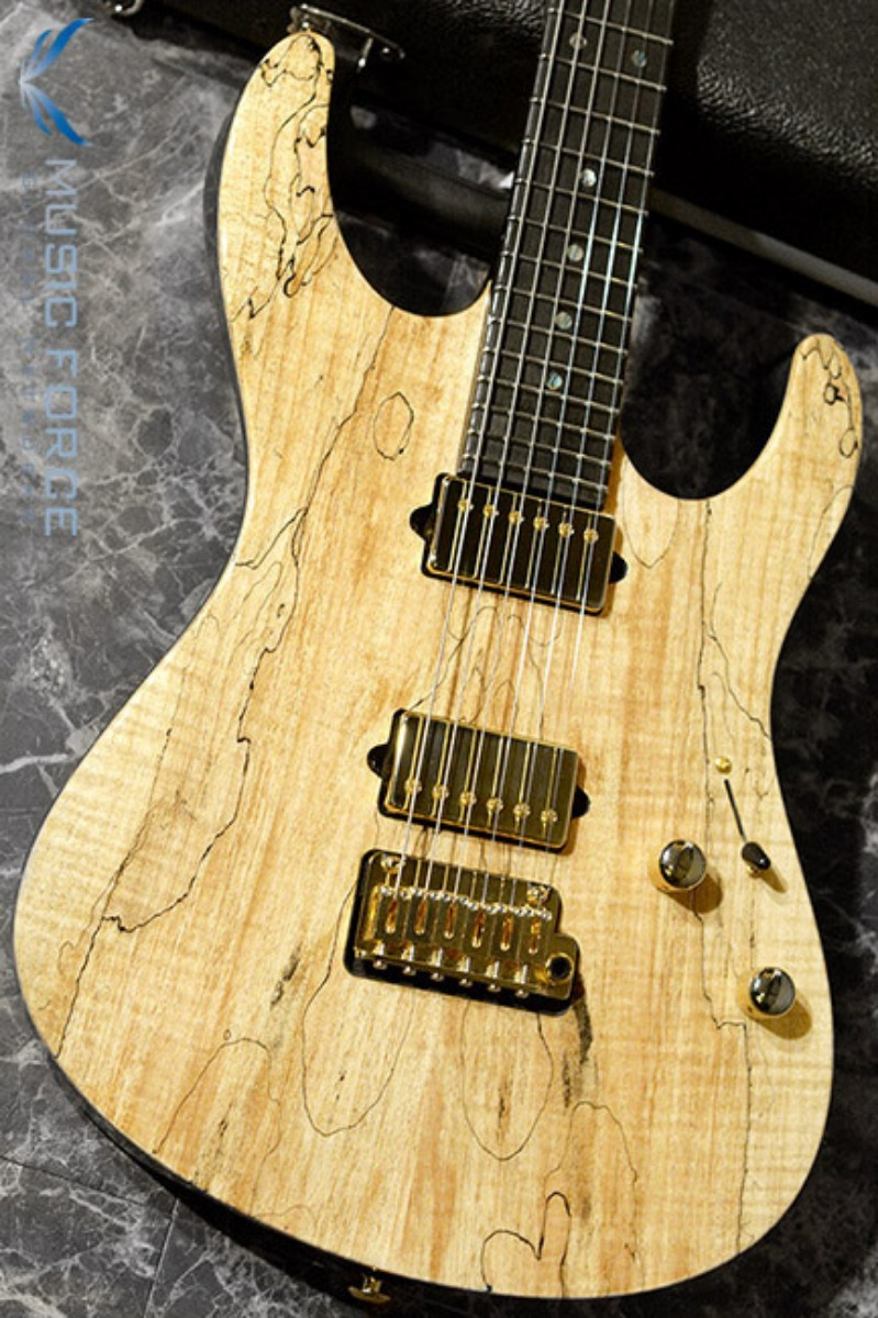 [2018 Final Sale(~12/31까지)!!!] Suhr Modern Set Neck HH Spalted Maple Top(Custom Top Wood Selection)-Natural Gloss w/Ebony FB & Gold HW(2018년산/신품)