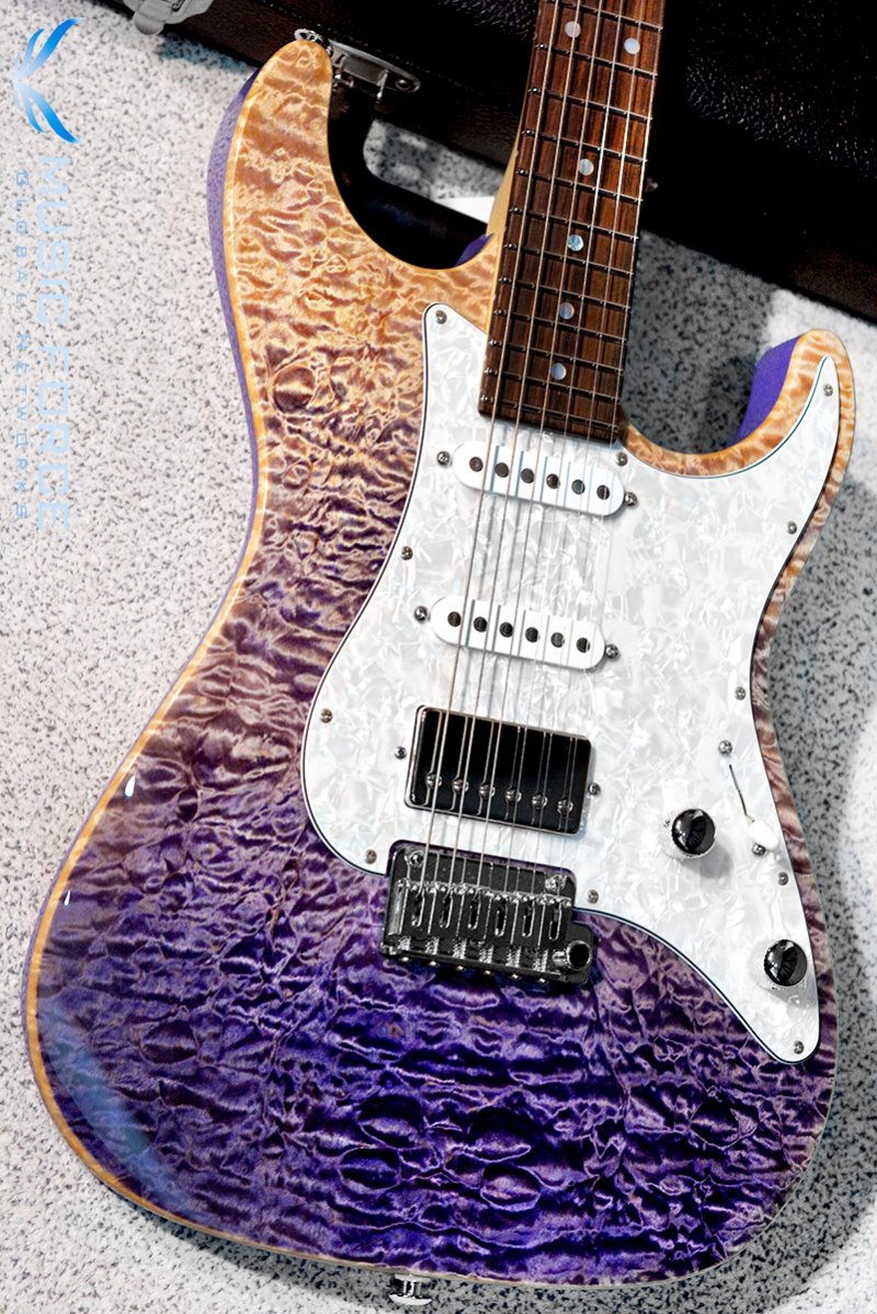 Suhr Custom Standard SSH QMT-Custom Color Purple Gradient w/Pearl PG & Match Figured Headstock(2017년산/신품)