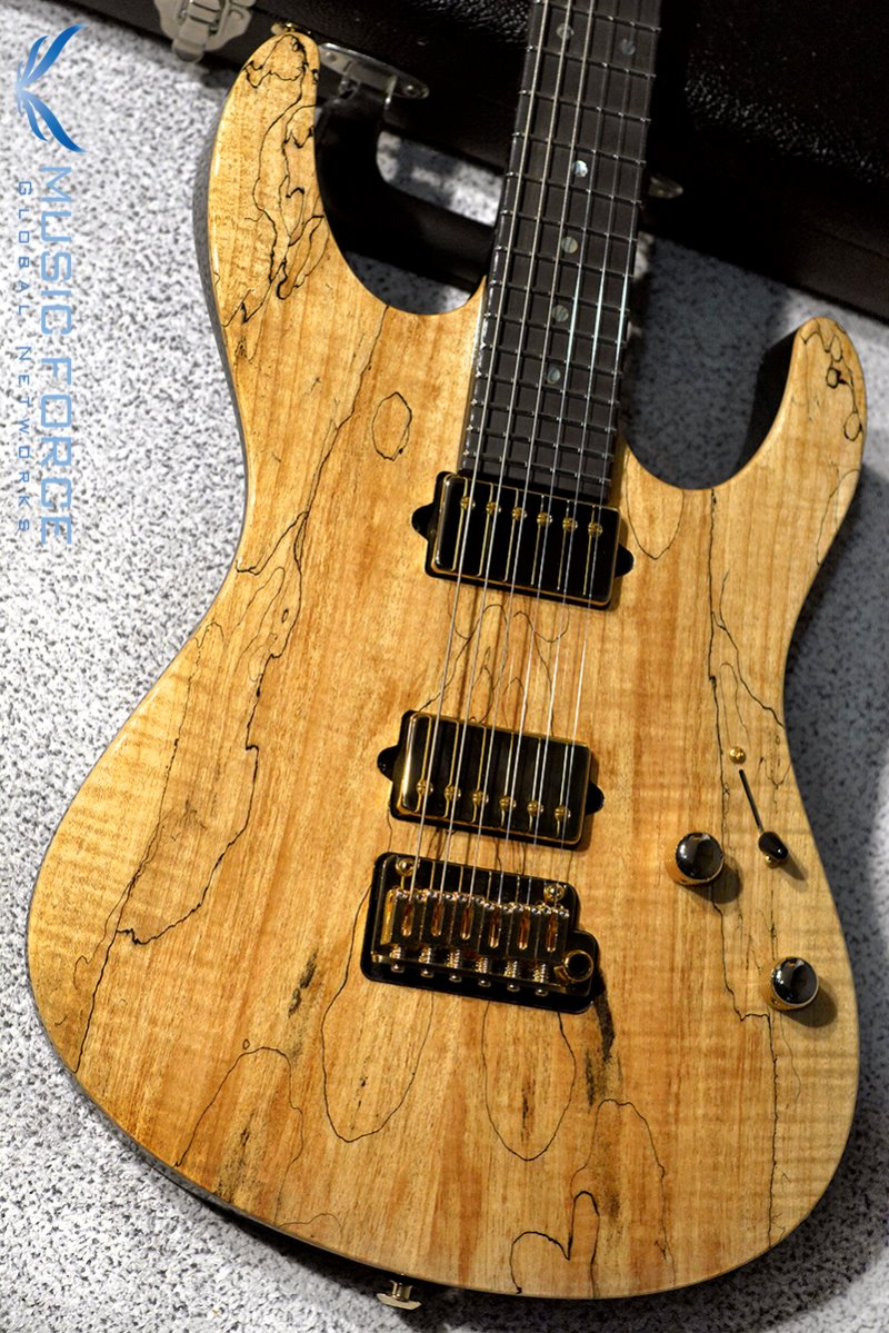 Suhr Custom Modern Set Neck HH Spalted Maple Top(Custom Top Wood Selection)-Natural Gloss w/Ebony FB & Gold HW(2018년산/신품)