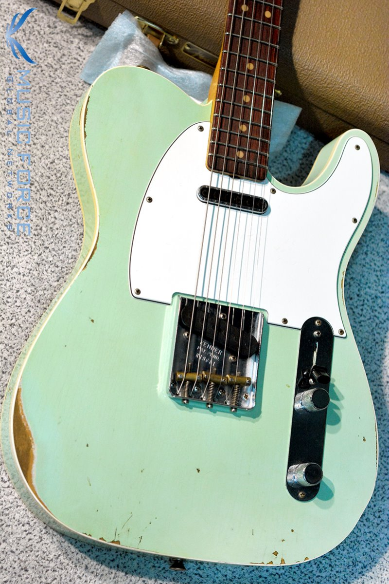 Fender Custom Shop NAMM Limited 1960 Custom Tele Relic-Super Faded Aged Surf Green(2018년산/신품)