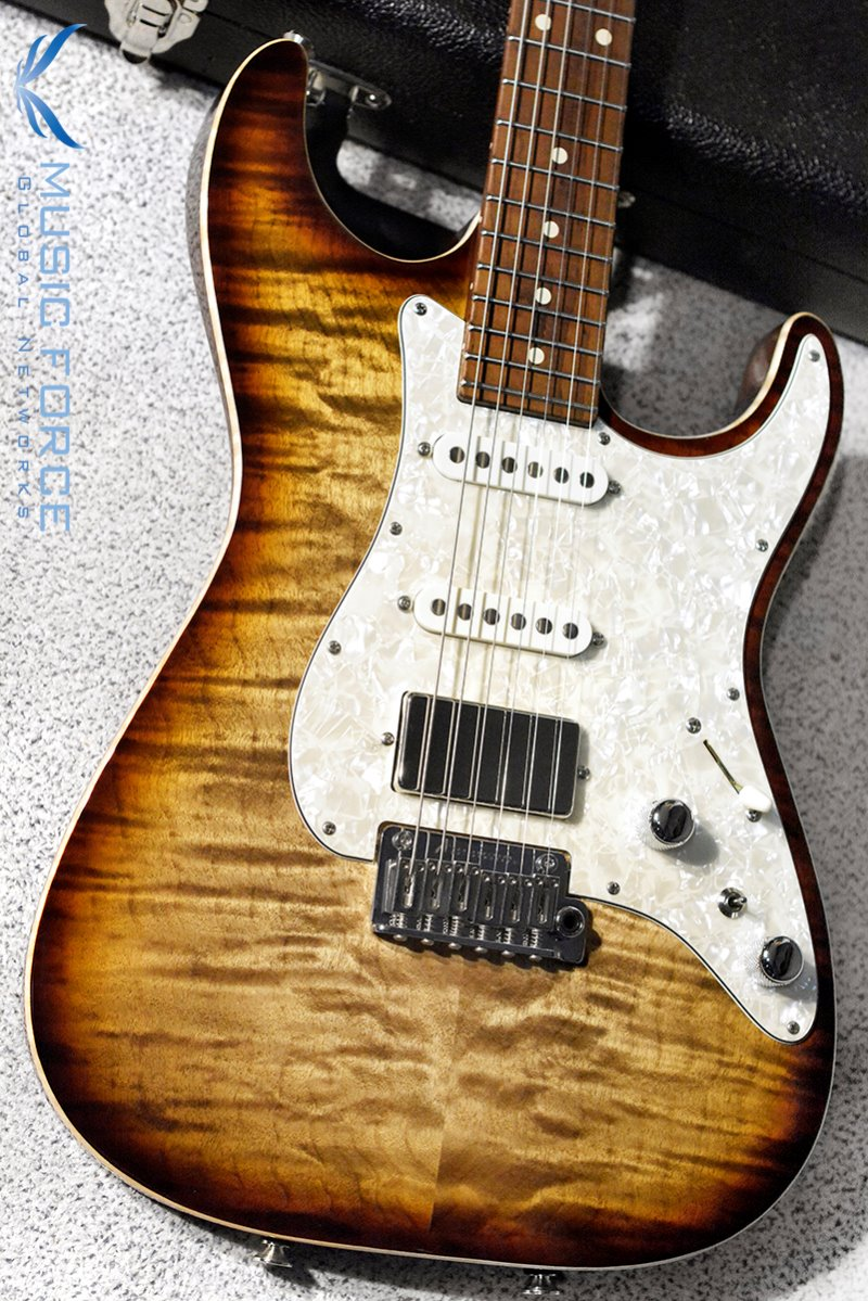 Tom Anderson Drop Top Classic SSH QMT-Natural Mocha Burst w/Chocolate Maple Neck(2018년산/신품)