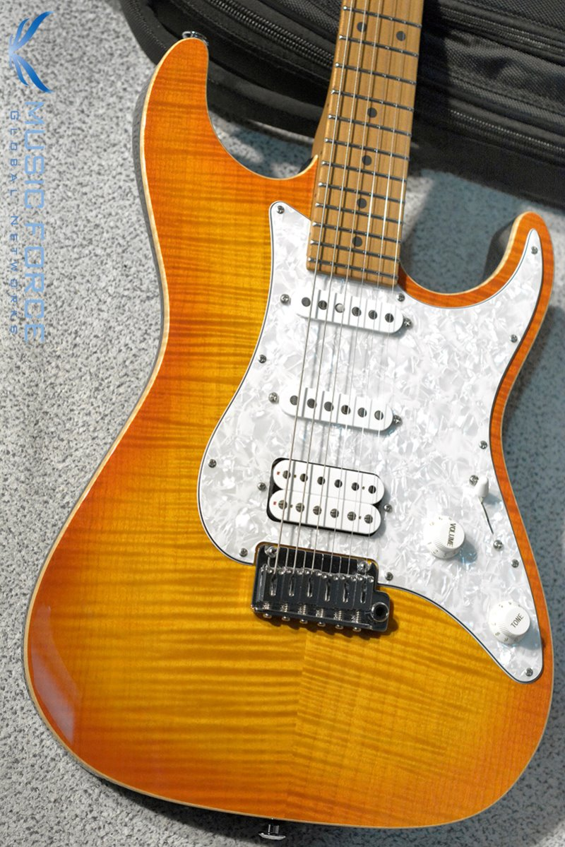 Suhr Standard Plus SSH FMT-Trans Honey Amber Burst w/Roasted Maple Neck & SSCII System(2019년산/신품)