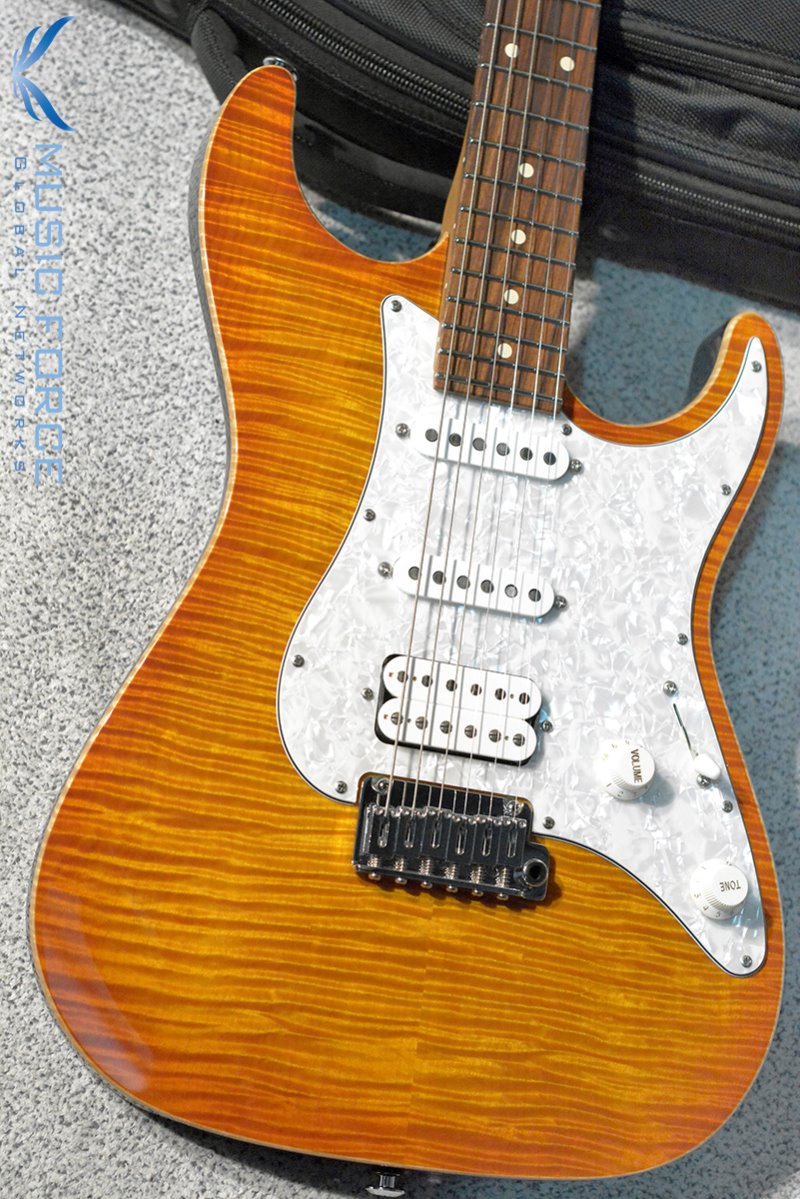 Suhr Standard Plus SSH FMT-Trans Honey Amber Burst w/Roasted Maple Neck, Pau Ferro FB & SSCII System(2019년산/신품)