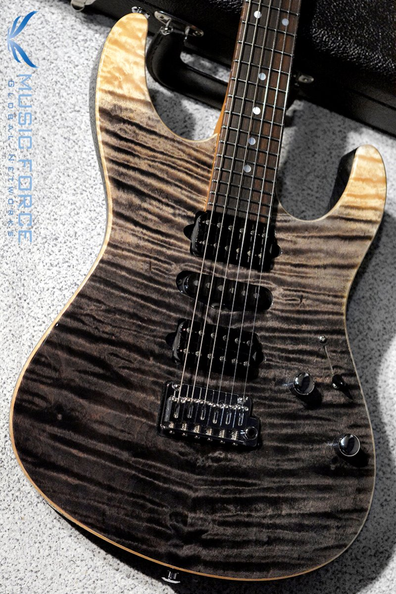 Suhr Custom Modern HSH Quilt Maple Top-Custom Color Black Gradient w/Match Figured Headstock(2019년산/신품)