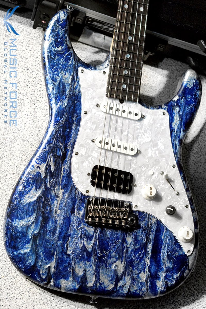 James Tyler Japan Studio Elite HD SSH-Custom Blue Shmear Edition 2 w/Rosewood FB, Midboost & Bypass Button(2019년산/신품)