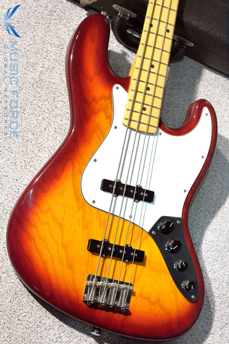 [Used] Suhr Custom Classic J Bass-Aged Cherry Burst w/Active Preamp & Maple FB(2013년산/Mint급중고)