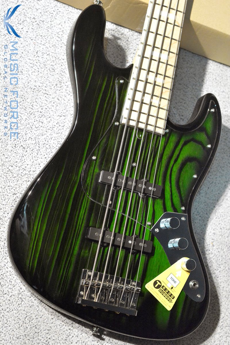 Bacchus Japan Craft Series WL5DX-ASH Burner-Trans Green Sunburst w/Maple FB, Matching Headstock (2019년산/신품)