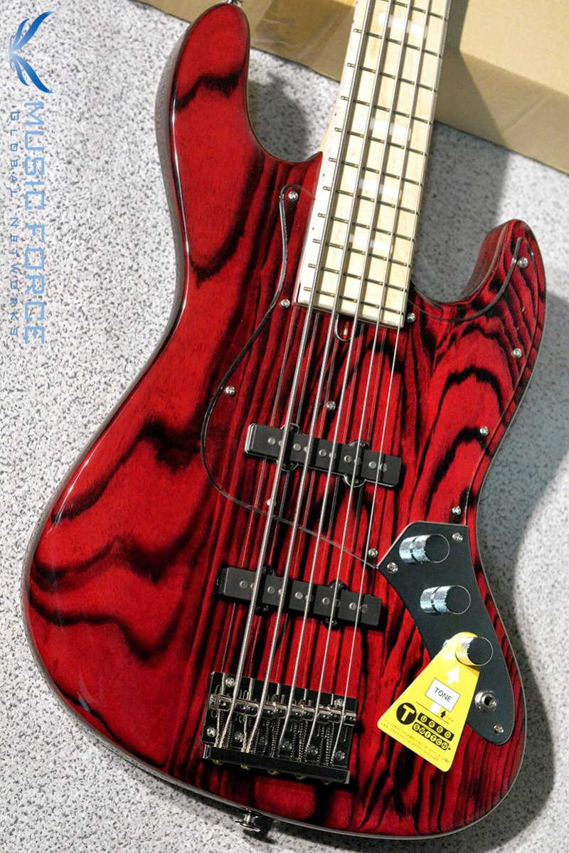 Bacchus Japan Craft Series WL5DX-ASH Burner-See Thru Red w/Maple FB, Matching Headstock (2019년산/신품)