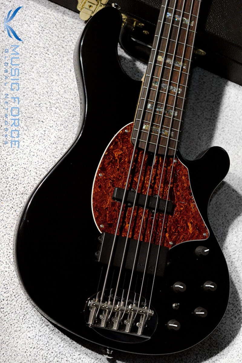 Lakland US Custom 55-94 Standard-Black w/Rosewood FB, Abalone Block Inlay & Black Headstock(2019년산/신품)