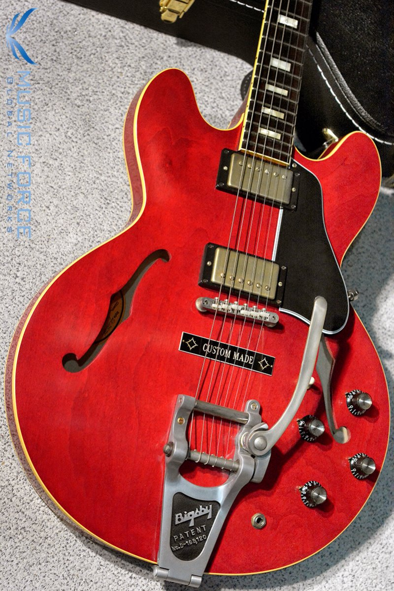 [특별세일] Gibson Memphis 1963 ES-335 TDC Block Reissue Limited Run-60's Cherry VOS w/Bigsby & Custom Made Plate(2016년산/신품)