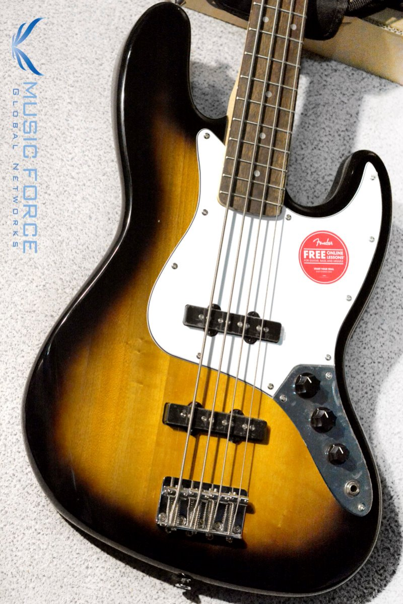 Squier Affinity Jazz Bass-Brown Sunburst w/Indian Laurel FB (2019년산/신품)