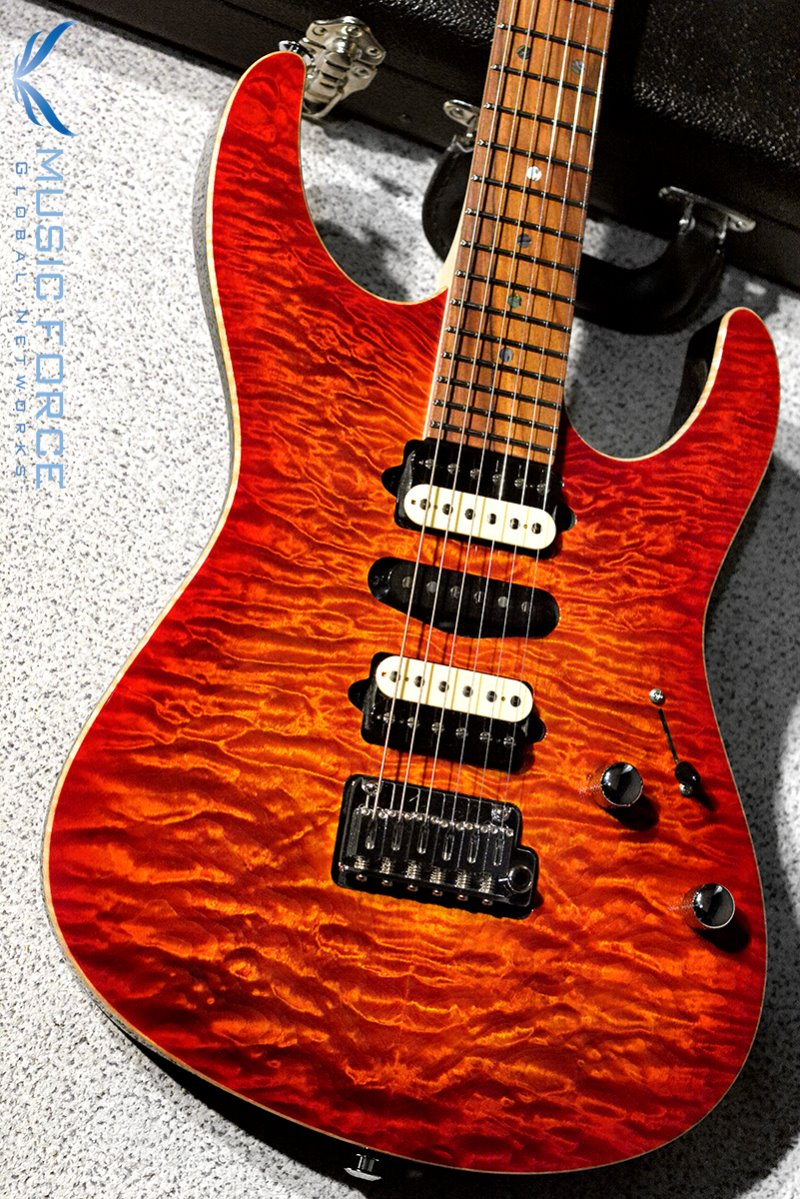 Suhr Custom Modern HSH QMT(Custom Top Wood Selection)-Fireburst w/Black Painted Headstock(2019년산/신품)