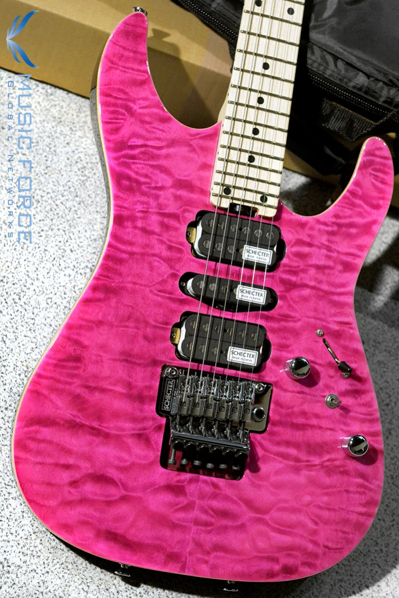 Schecter Japan NV-3-24-AL See-Thru Pink w/Maple FB (2019년산/Made in Japan/신품)