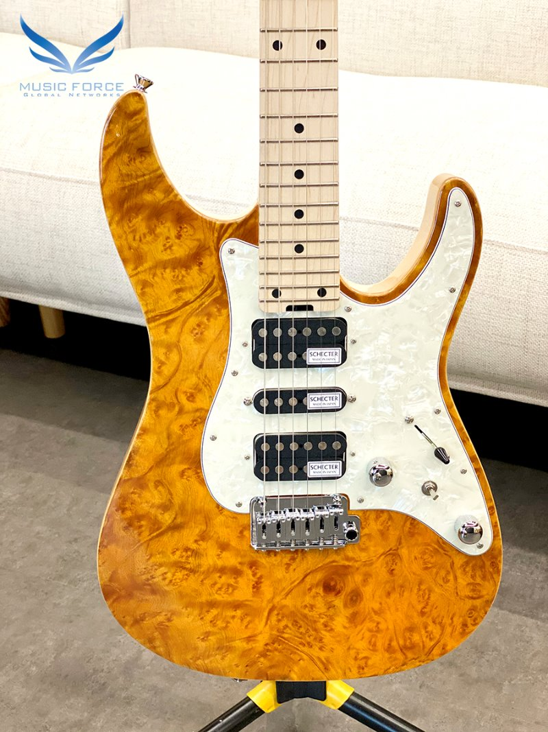 Schecter Japan SD-2-24-VTR-MW Amber w/Maple FB (2020년산/Made in Japan/신품)