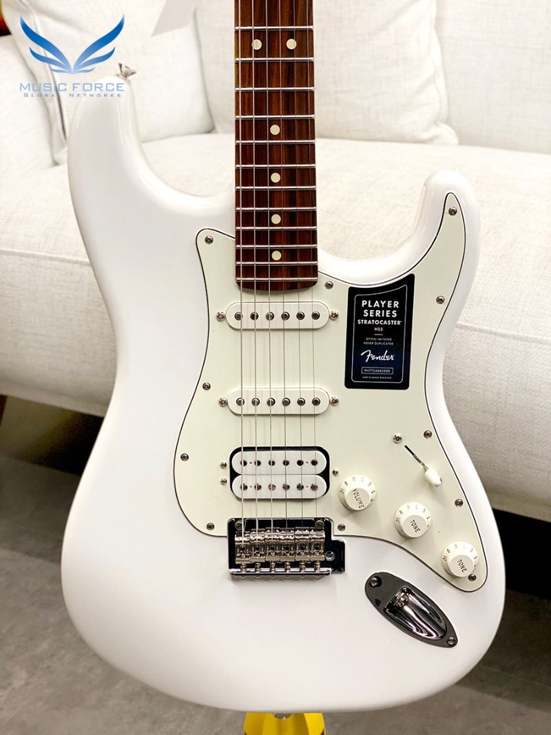 [특별세일] Fender Mexico Player Series Stratocaster SSH-Polar White w/Pau Ferro Fingerboard (2020년산/신품) 펜더 멕시코 플레이어 스트라토캐스터