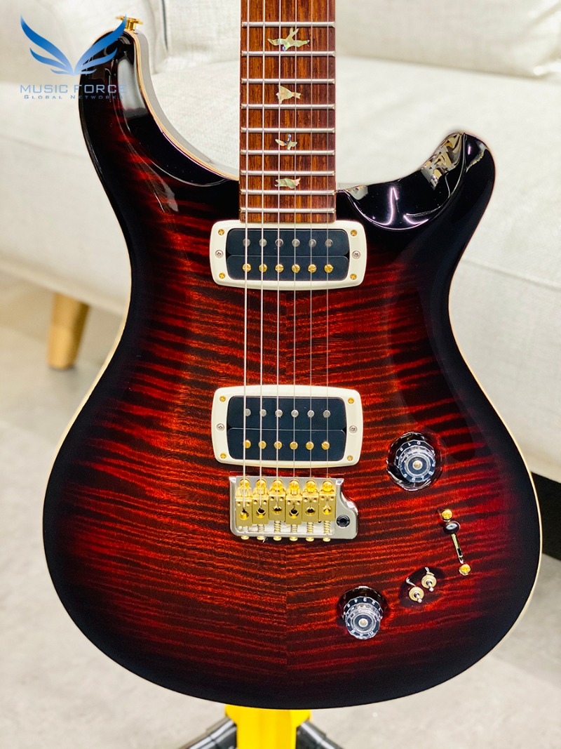 PRS Wood Library 408 Limited-Fire Red Burst w/10 Top Flame, Honduran Rosewood FB & Hybrid HW(2017년산/신품) - 246626