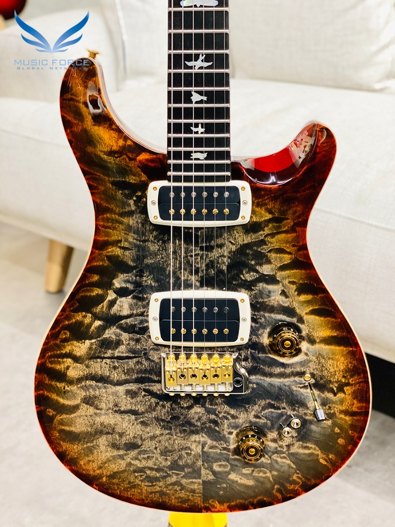 PRS Wood Library 408 Limited-Burnt Maple Leaf w/10 Top Quilt, Gaboon Ebony FB & Hybrid HW(2017년산/신품) - 246489